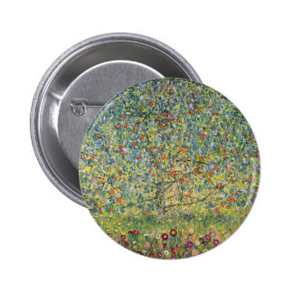Apple Tree by Gustav Klimt, Vintage Art Nouveau Pinback Buttons