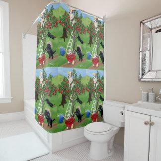 Apple Tree Labradors Shower Curtain