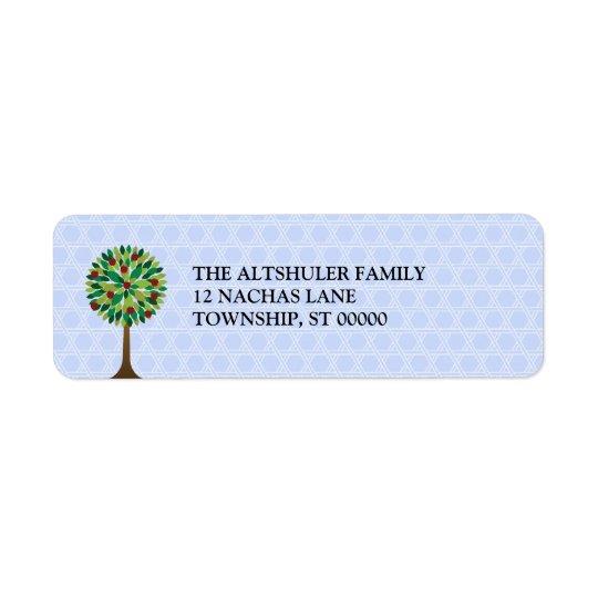 Apple Tree Rosh Hashanah Return Address Label