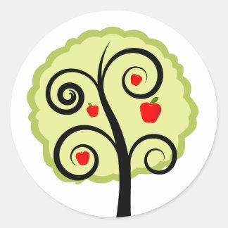 Apple Tree Round Sticker