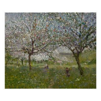 Apple Trees in Flower Poster