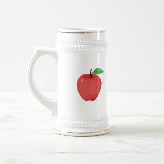 Apple Watercolor Beer Stein