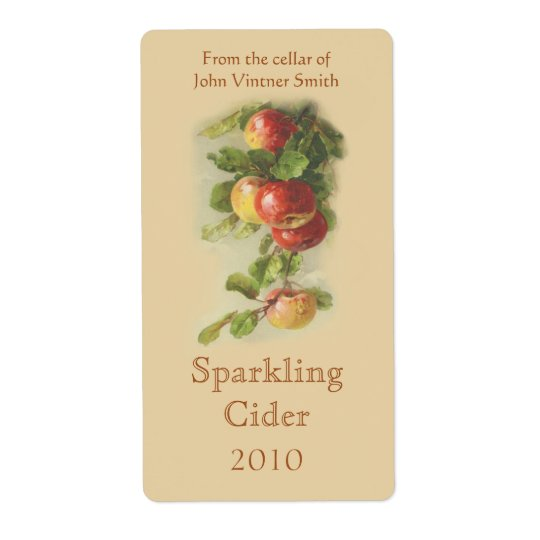 Apple wine bottle label