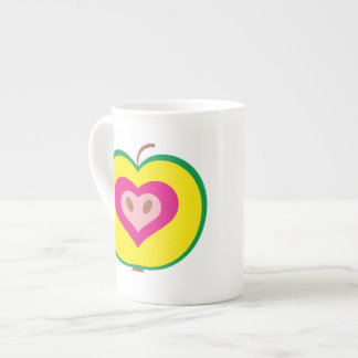 Apple with Love Heart Mug