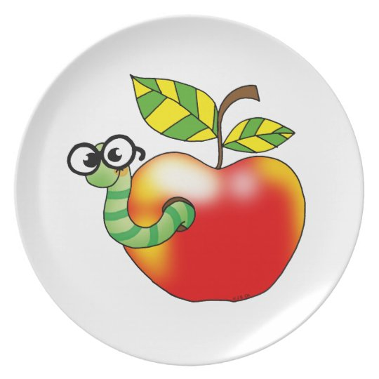 Apple & Worm Plate