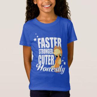Applejack   Faster Stronger Cuter Honestly T-Shirt
