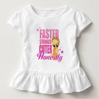 Applejack   Faster Stronger Cuter Honestly Toddler T-shirt
