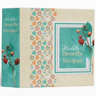 Apples and Berries Recipe Binder
