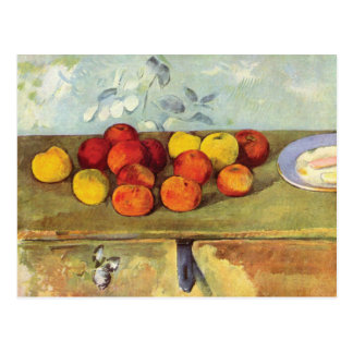 Apples and Biscuits by Paul Cezanne Postcard