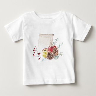 Apples and cones watercolour. baby T-Shirt