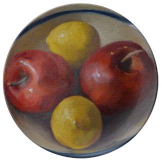 Apples and Lemons Plate