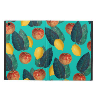apples and lemons teal cover for iPad air
