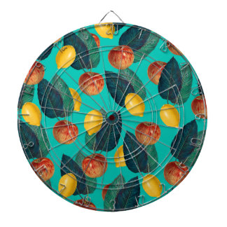 apples and lemons teal dartboard