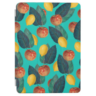 apples and lemons teal iPad air cover