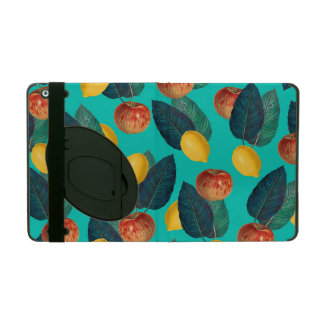 apples and lemons teal iPad case