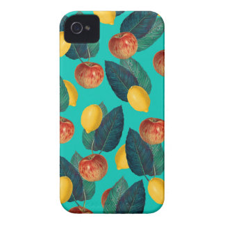 apples and lemons teal iPhone 4 covers