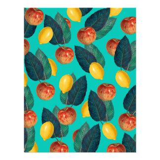 apples and lemons teal letterhead