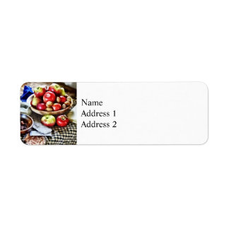 Apples And Nuts Return Address Label