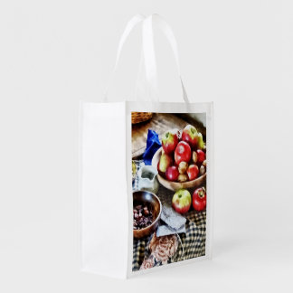 Apples And Nuts Reusable Grocery Bag