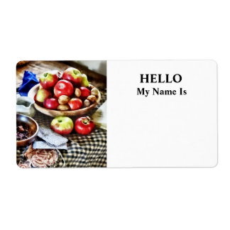 Apples And Nuts Shipping Label