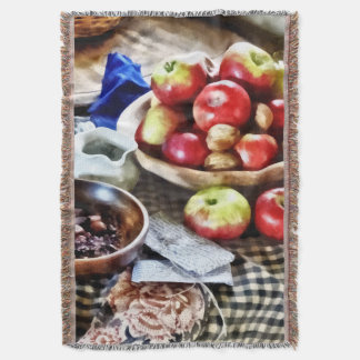 Apples And Nuts Throw Blanket
