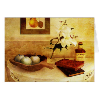 Apples and Pears in a Hallway Card