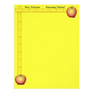 Apples and Rulers Teachers Paper (Sunshine Yellow) Flyer Design