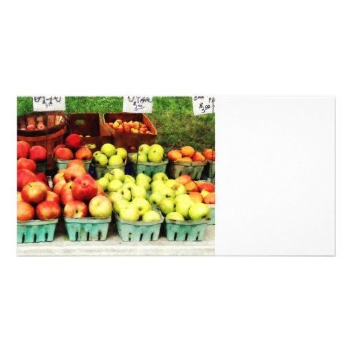 Apples at Farmer's Market Personalized Photo Card