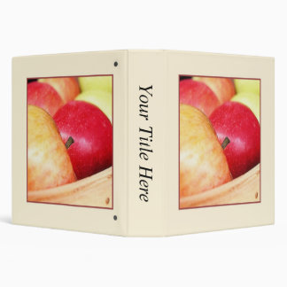 Apples At The Farmers Market 3 Ring Binder