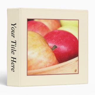 Apples At The Farmers Market Vinyl Binder