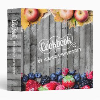 Apples berries aged wood chef catering bakery binders