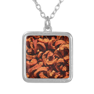 Apples - d44 silver plated necklace