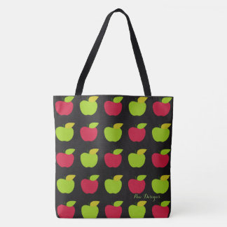 Apples_Delicious(c) Black_Multi Choices Tote Bag