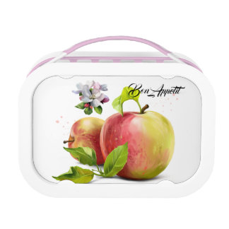 Apples, flowers and splashes lunch box