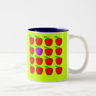 Apples for Diversity Tshirts and Products Two-Tone Coffee Mug