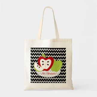 Apples for Teacher Personalized Tote Bag