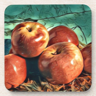 Apples on Display Drink Coaster