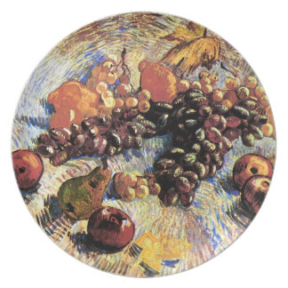 Apples Pears Lemons & Grapes Van Gogh Fine Art Plate