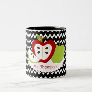 Apples Personalized Teacher Mug