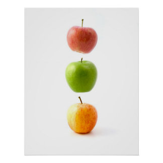 Apples The Forbidden Floating Fruit Art Poster
