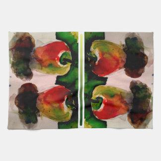 Apples Watercolor Kitchen Art Dishcloth Hand Towels