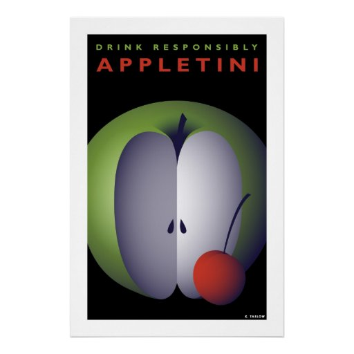 Appletini (Large Archival Paper Poster)