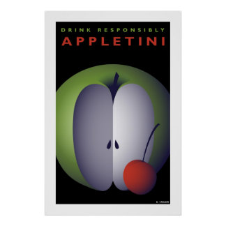 Appletini (Large Poster) Poster