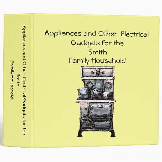 Appliances and Other Electrical Gadgets Keeper Vinyl Binders