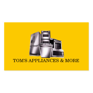 Appliances Sales Installation Repair Business Cards