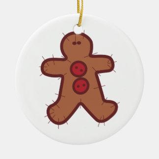 Applique Gingerbread Ceramic Ornament