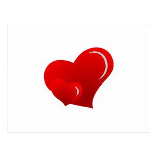 Applique Hearts Postcard