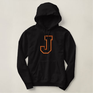 Applique J without Banner Embroidered Hoodie