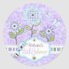 Applique-look Flowers Baby Shower Sticker IRIS
