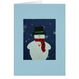 Applique Snowman Greeting Card